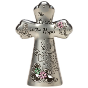 """The Lord Is Our Hope"" Mini Tabletop Cross - Precious Moments"