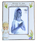"""Blessings On Your First Holy Communion"" Bisque Porcelain Photo"