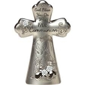 """First Communion Mini Tabletop Cross"", Girl"