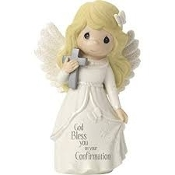 """Confirmation Angel"", Bisque Porcelain Figurine"