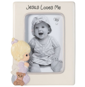 """Jesus Loves Me"" Ceramic Photo Frame, Girl - Precious Moments"