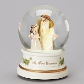 Communion Girl w/Jesus Glitterdome