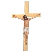 "12"" Contemporary Wall Crucifix"