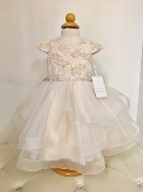 Teter Warm 3D Jacquard/Tulle Blush Infant Dress