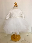 Teter Warm Lace/Tulle Ivory Infant Dress w/Sleeves