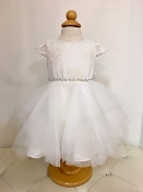 Teter Warm Hi Low Lace/Tulle Ivory Infant Dress