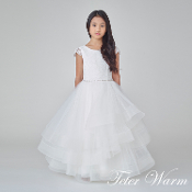 Ivory Communion Dress w/Rhinstone Belt,Communion,Communion Dress,First Holy Communion,First Holy Communion Dress,First Holy COmmunion Suit,Communion Suit Mississauga,Communion Dress Mississauga,Communion Shoes,Communion