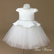 Teter Warm Jacquard/Tulle Infant Dress