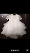 Teter Warm Crochet/Tulle Ivory Infant Dress w/Sleeves