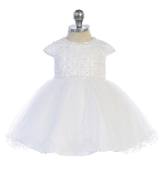 Infant Criss Cross Sequin Bodice/Tulle Skirt Dress