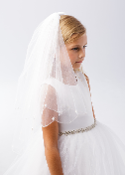 Veil with Beaded Scalloped Edging