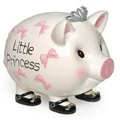Mudpie Giant Princess Piggy Bank