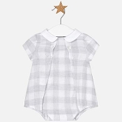 Mayoral Baby Boy Linen Plaid Romper