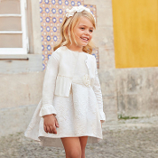 Mayoral Girls Sparkle Jacquard dress