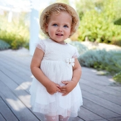 Mayoral Baby girl Lurex Jacquard dress