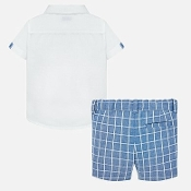 Mayoral Baby Boy Linen Short Set
