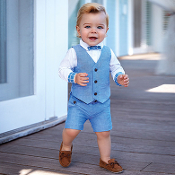Mayoral Boy Vest and Shorts Set