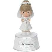 Precious Moment Communion Girl Musical Figure