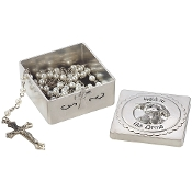 2pc Precious Moments Baptism Box & Rosary