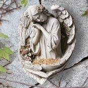 Garden Angel Wall Birdfeeder