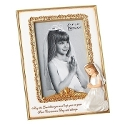 "8"" Communion Girl Frame 4x6"