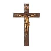 "11.5"" Wall Crucifix Gold"