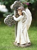 Angel Holding Cross Figure