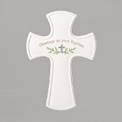 "7.75"" Blessings on Your Baptism Wall Cross"