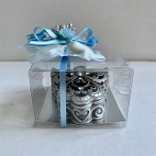 Silver Angel Box Bomboniere