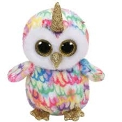 Enchanted the Owl with Horn Beanie Boo