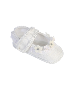 Infant Girl's Silk Crib Shoes