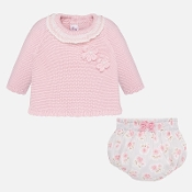Mayoral Baby Girl Sweater/Bloomer Set