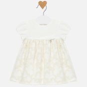 Mayoral Baby Girl Dress w/Velvet Bodice, Embroidered Skirt