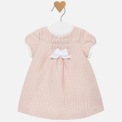 Mayoral Baby Girl Pink Dots Dress w/Smocking