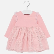 Mayoral Baby girl Embroidered Tulle Dress