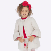 Mayoral girl Coat with Bell Sleeves