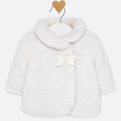 Mayoral girl Ivory Fur Coat