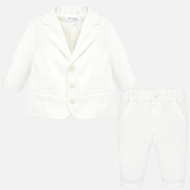 Mayoral Crudo LS Shirt,Pants,Jacket & Bow Tie Set