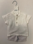 EMC Linen Shirt, Dress Shorts Set