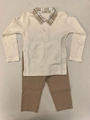 EMC Interlock Polo/Tan Pant Set