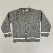 EMC Boy Grey Cableknit Cardigan