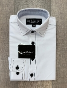 Leo & Zachary White w/Shadow Stitch L/S Dress Shirt