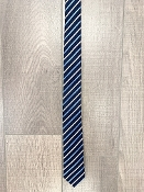 Leo & Zachary Navy/White/Blue Stripe Neck Tie