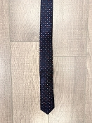 Leo & Zachary Navy/Red Squares Neck Tie