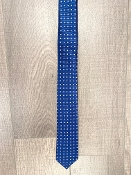 Leo & Zachary Royal Blue/Silver Squares Neck Tie