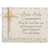 "6""h First Holy Communion Wall Plaque"