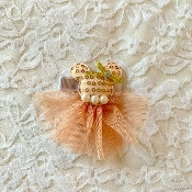 Peach Sequin Minnie Hair Clip