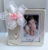 Personalized 3x3 Frame w/Dangle Cross Bomboniere