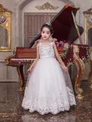 Princess Daliana Embroidered Embroidered Tulle Dress