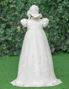 Princess Daliana Embroidered Gown w/Bonnet